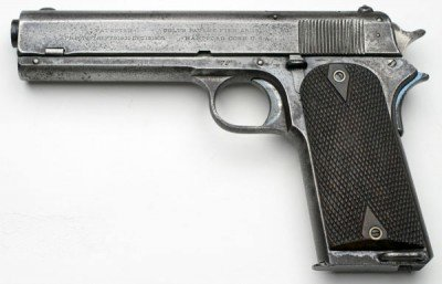Colt 1907.  The first of these pistols to have a grip safety.
