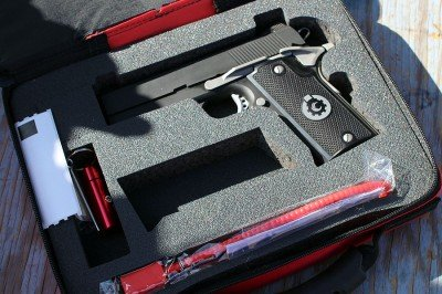 The case that the Coonan comes in is soft-sided, but well padded.