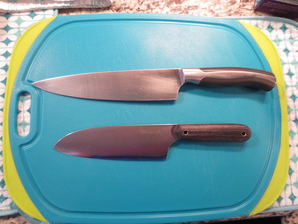 My $20 Oneida compared to my $300 Ban Tang Santoku.