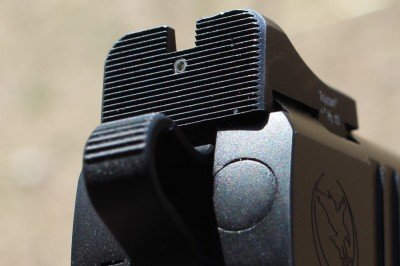 The Heine sights have a lot of real estate, and a very small dot to align with the front. While it isn't my preferred sight system, it is capable of solid results.