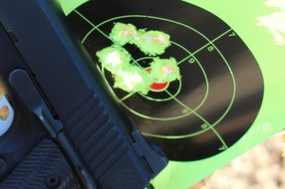 It is accurate enough that you can easily place shots exactly where you want when concentrating on form.