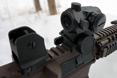 With the riser, the optic is ideal for cowitnessing on an AR.