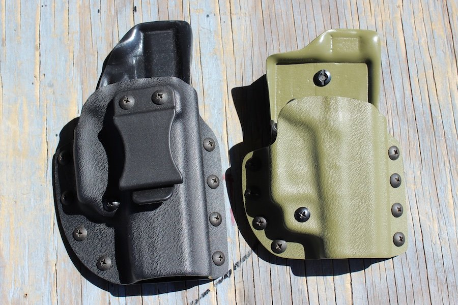 IWB for a GLOCK 19, and an OWB for the 42.