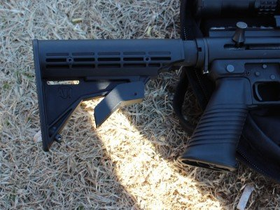 The adjustable stock.