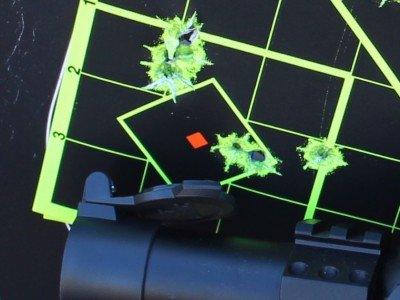 With the Burris, the accuracy was spot on--exactly what you'd expect from a survival rifle.