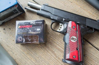 I tested accuracy and velocity with a Springfield Armory 1911 TRP.