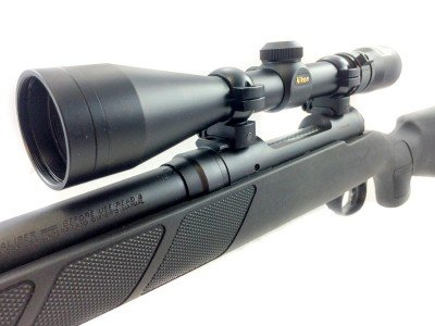 The Nikon 3-9x scope is factory bore sighted to get you on paper quickly.