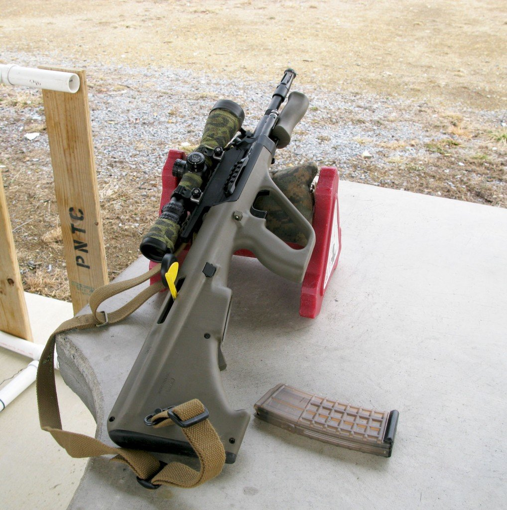 The Nightforce 2.5-10X42 didn't turn the AUG into a tack driver but it did turn in some respectable groups at 100 yards for a basic carbine using match ammunition.