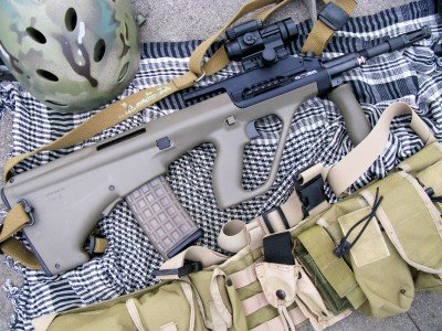 The Steyr AUG is in service with nearly 40 countries and law enforcement agencies including the US, Austrailia, New Zealand, and Ireland.