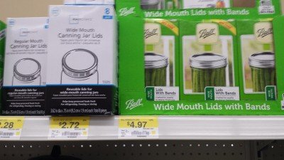 For survival, Walmart has extra lids, but not a ton of them. I bought cases of them on Ebay for deep discounts.
