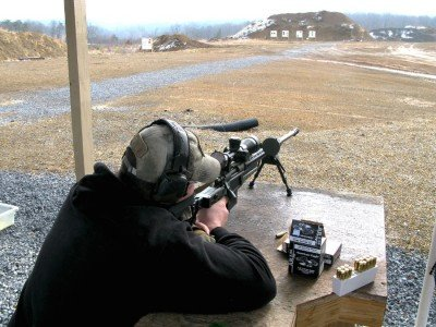 My good friend stacking rounds up at 300 yards.
