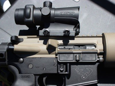 The only optic we used was a Lucid red dot. You don't really need an optic at all.