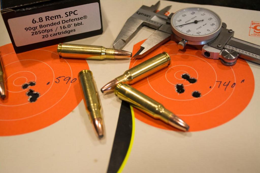 The 6.8 Remington SPC cartridge is based off the .30 Remington.