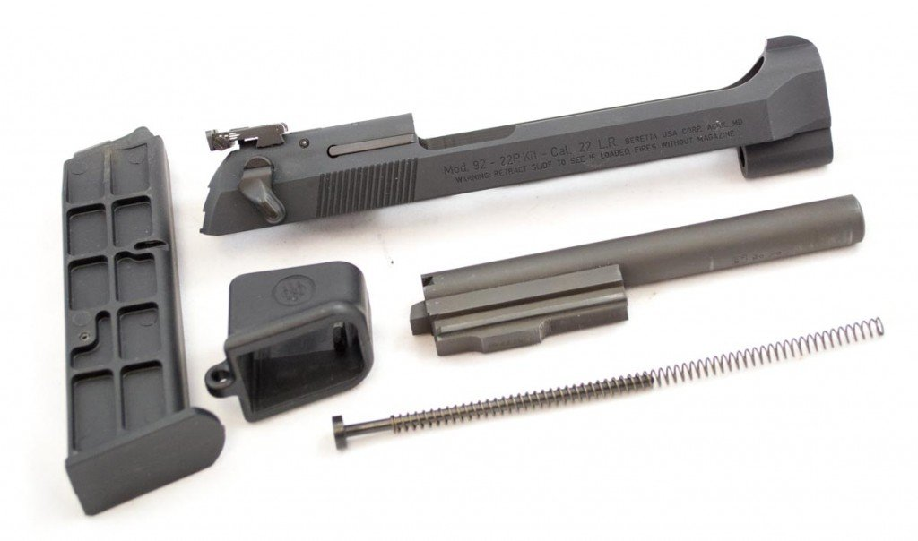 In the box: Slide, barrel, magazine and magazine loading tool.