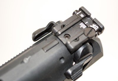 The adjustable rear sight is outstanding.