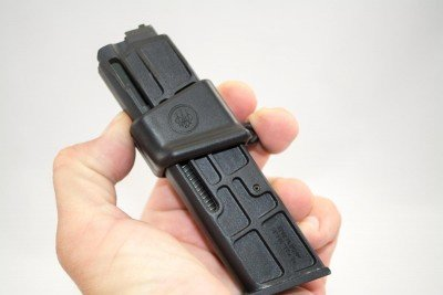 The magazine tool holds the springs so you can just drop rounds with ease.