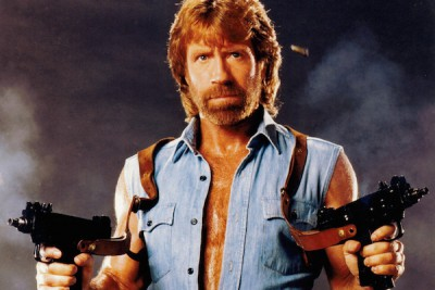 Chuck Norris.  Not sure about the trigger-finger discipline in this photo.