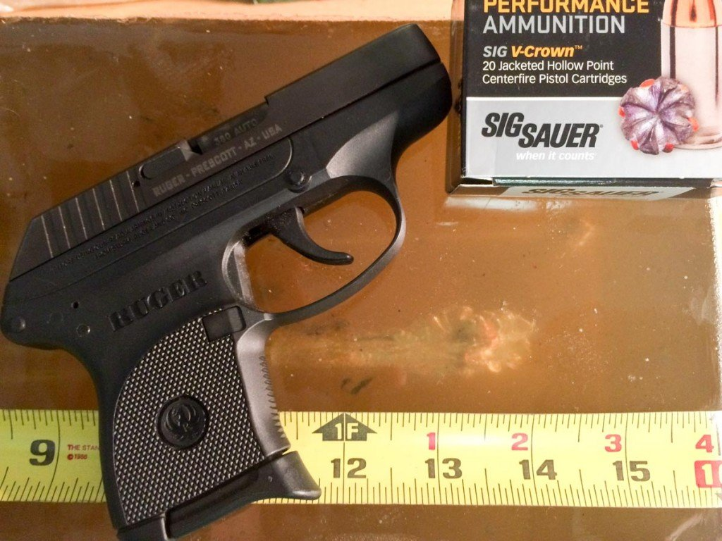 Even from the tiny Ruger LCP, penetration was excellent and there was expansion.