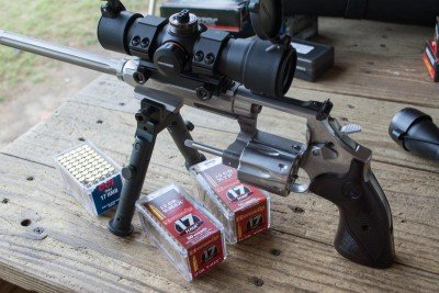 I tested three different types of .17 HMR ammo: Hornady V-Max, Hornady XTP, and CCI FMJ.
