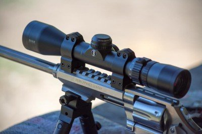 I used the Bushnell Elite 3500 variable 2-7x handgun scope for accuracy testing.