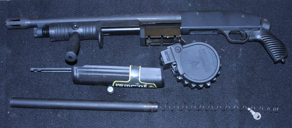 This is the system laid out so you can see what goes where. I no longer need my FLEX forend assembly and magtube.