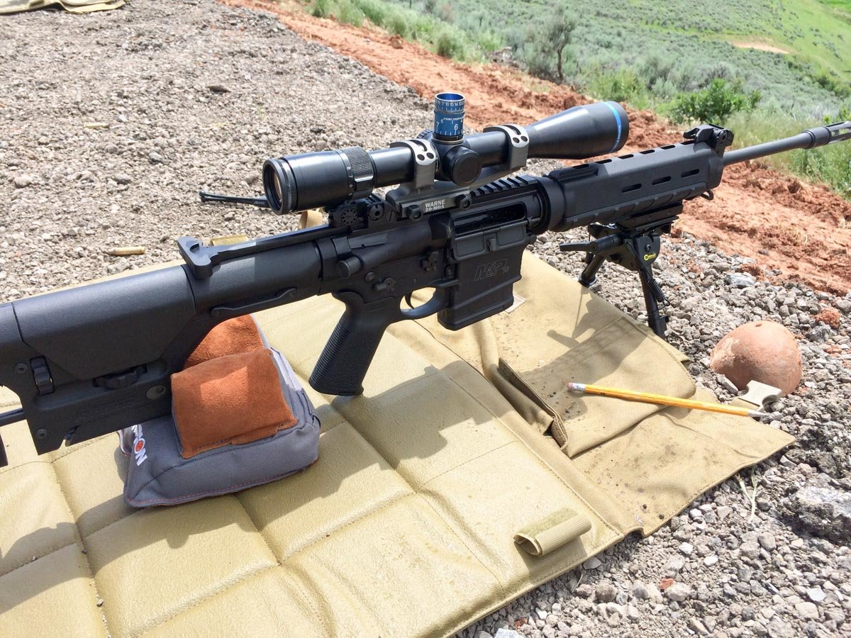 1 000 Yards With A Stock 308 Ar 15 Style M Amp P Model 10
