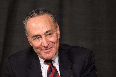 Sen. Charles Schumer is photographed during a spotlight interview with The Journal News editorial board, Harrison, Jan. 18, 2012. ( Melissa Elian/The Journal News )
