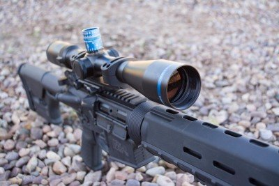 A new trial for me was the Huskemaw Optics. We used 3-12x42, and that was plenty of magnification to reach 1,000 yards.