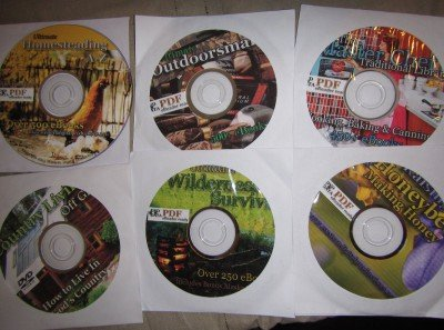 These are some of the Western Digital disks I found on Ebay. They have some silly Bigfoot stuff too, and some cool ghost and alternative energy sets, but in the middle of it all are extremely comprehensive survival and homesteading manuals and books, many dating back over 100 years. That's the old-tech we all need right now.