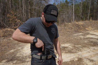And it is easy to tuck the shirt behind the holster when you need the freedom and clearance.