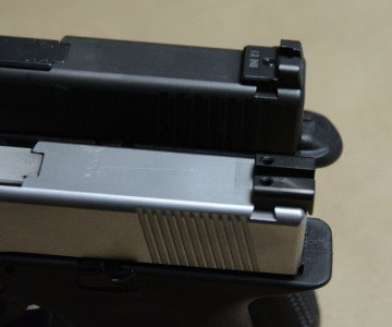 That said, remember that GLOCK sights are begging to be upgraded, and you can put whatever you want up-top.