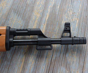 There are traditional sling mounts on the gun which make carrying it around even easier.