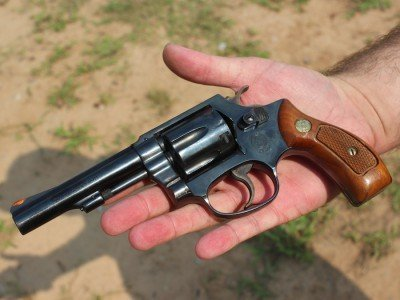Gives you a bit of an idea of size. Not a big revolver.