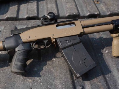 The DT starts with a Mossberg design, but moves way beyond the typical 500.
