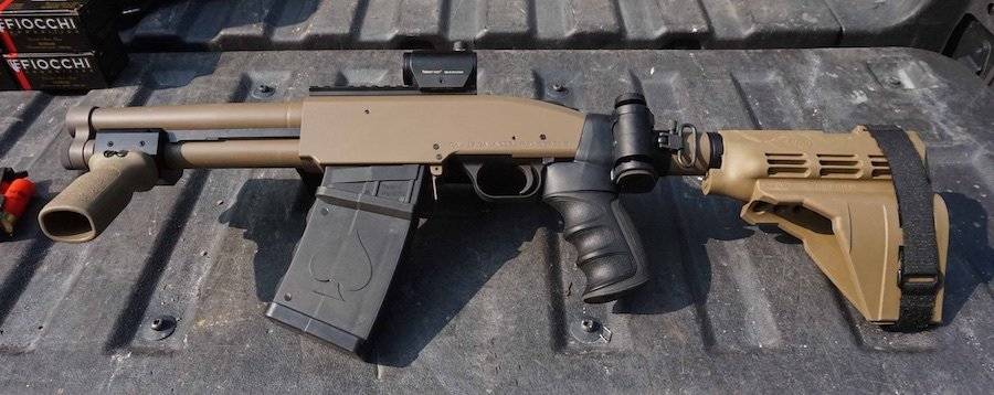 """8.5"""" barrel and a folding adapter for a Sig brace. And it doesn't require any extra paperwork."""