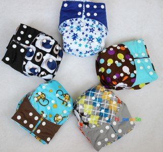 If you have a child of diaper age in your party, those cloth diapers can be purchased with or without these diaper covers that are adjustable from infant to toddler. Bought separately they are about $4 each, shipped from China where they are used by most people.