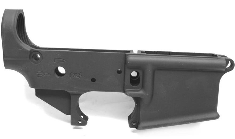 Most lowers are as simple and utilatarian as this DSA. It is a simple aluminum shell that connects almost everything. It is also the serialized piece of the rifle.