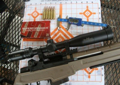 """It was harder to keep the groups in the 1.5"""" range with the Hornady Superformance SST 150 grain ammo, but its hot ammo so not unexpected. For super long range the Superformance is popular."""