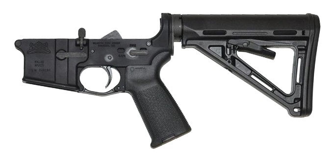 Some lowers, like this PSA, come decked out with all of the controls, and a stock, and a grip.