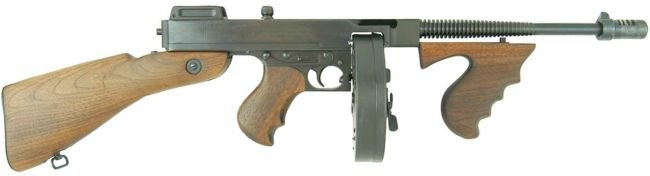Since real criminals are hard to catch, the public consented to the criminalization of objects., such as the Thompson.
