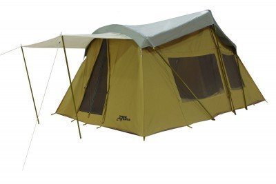 The other really good deal I found is $663 for this Chinese made canvas tent from Trek that is 16x10. It comes with a rainfly, awning, and about a dozen other options that would be custom and extra on an American made outfitter tent.