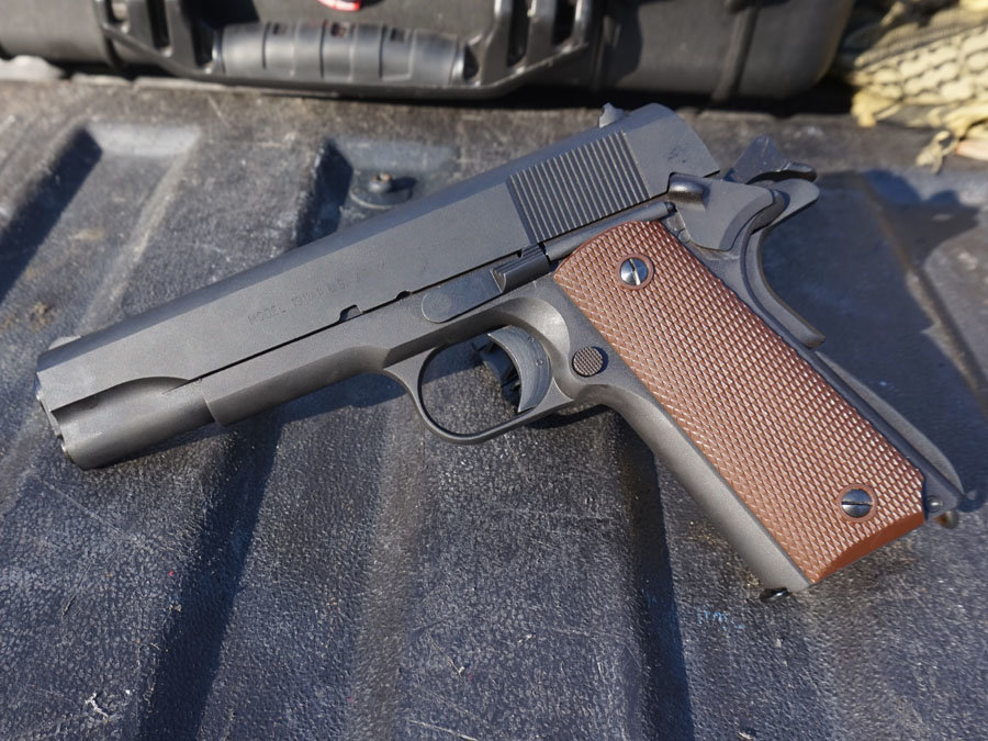 The Auto Ordnance 1911A1 is true to the original, but you can even get one that's MA compliant, if you must.