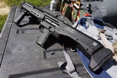 The grip has recoil mitigation, too.