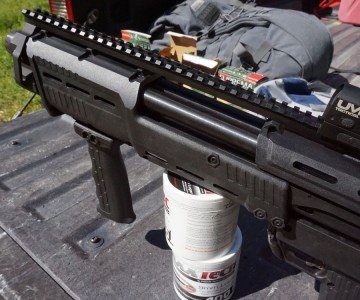 There's ample rail for attaching optics or sights.