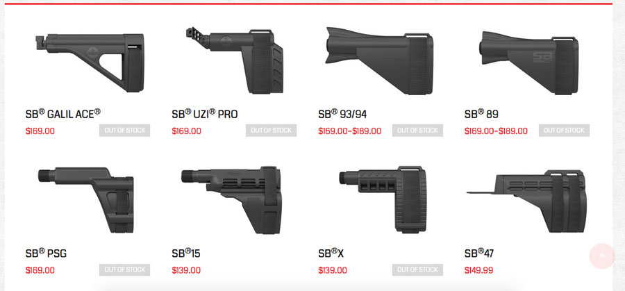 New Line-Up From SB-Tactical–More than a SIG Brace