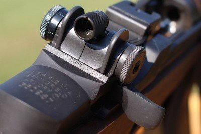 I'm a huge fan of the National Match's peep sight. The depth helps cut out glare and extra light.