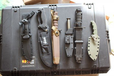 Here's some of what's to come (and some that have already been scratched from the list). Knives by Ka-Bar, SOG, Ontario, Browning, ESEE,