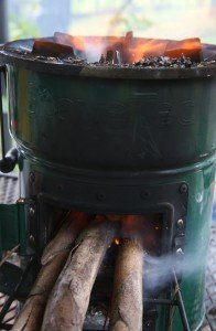 Getting a roaring Rocket Stove going isn't always easy, but hopefully this'll get you thinking about the subject and some ways to make your survival easier.