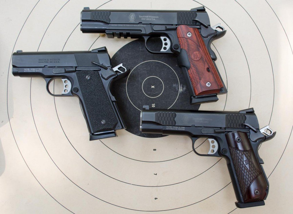 I used a trio of Smith & Wesson SW1911 models for testing.