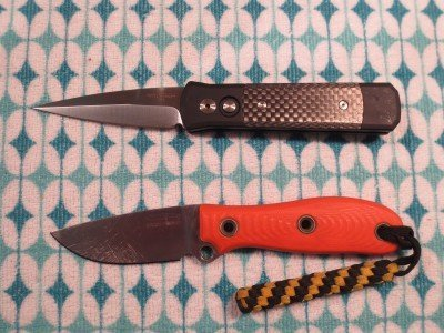 Recently, I wrote a rave review about my Pro-Tech Godson.  Here is a comparison of the two knives.